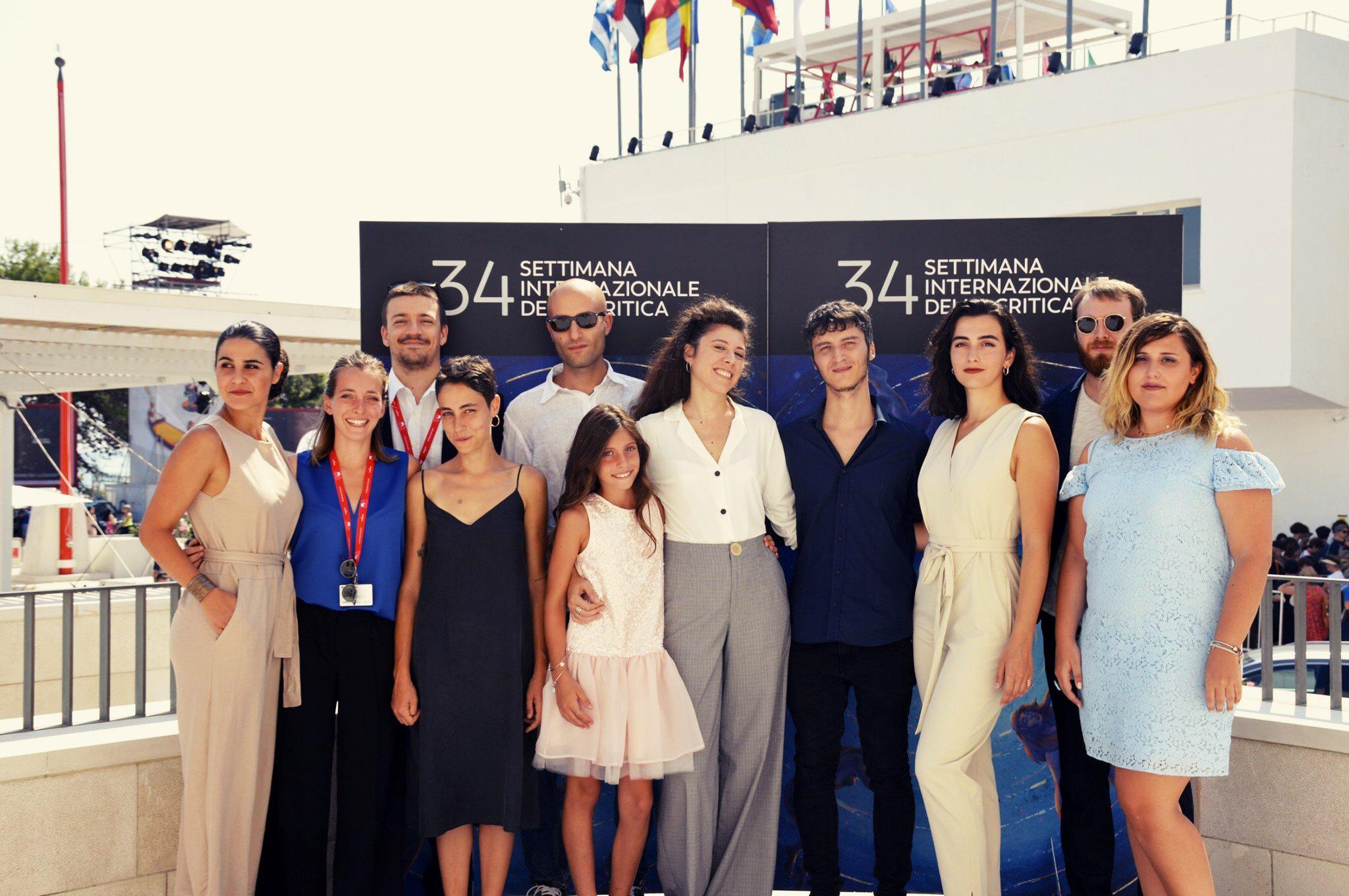 Il Cast del cortometraggio Il Nostro tempo alla mostra del cinema di venezia