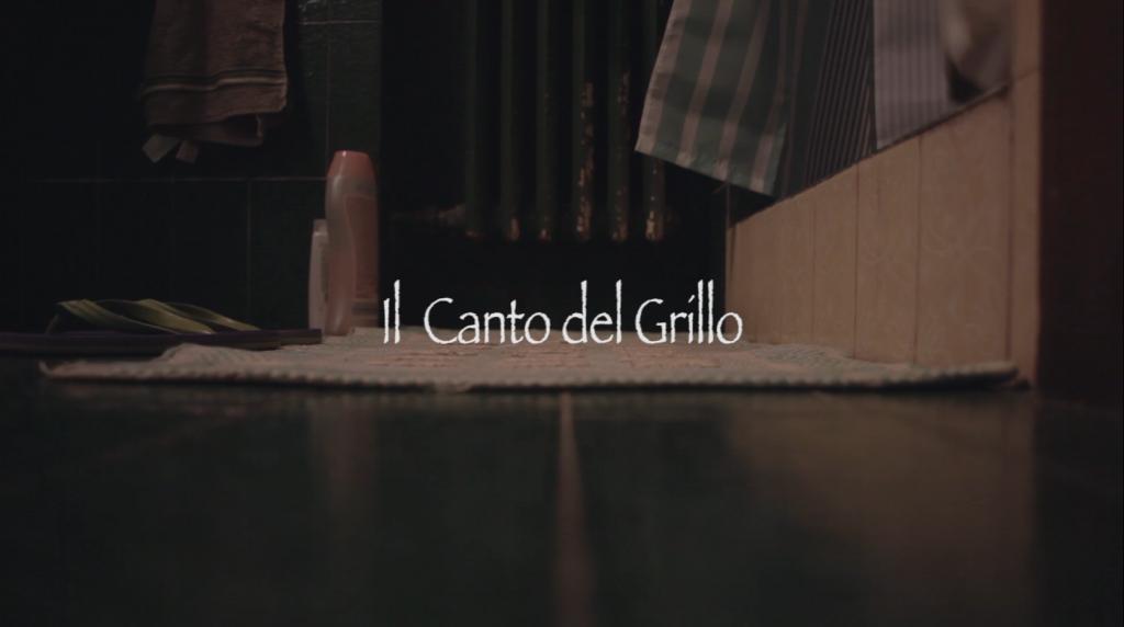 copertina del cortometraggio il canto del grillo